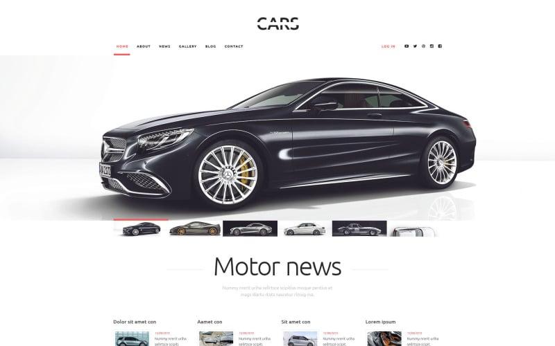 Tema de WordPress de carros