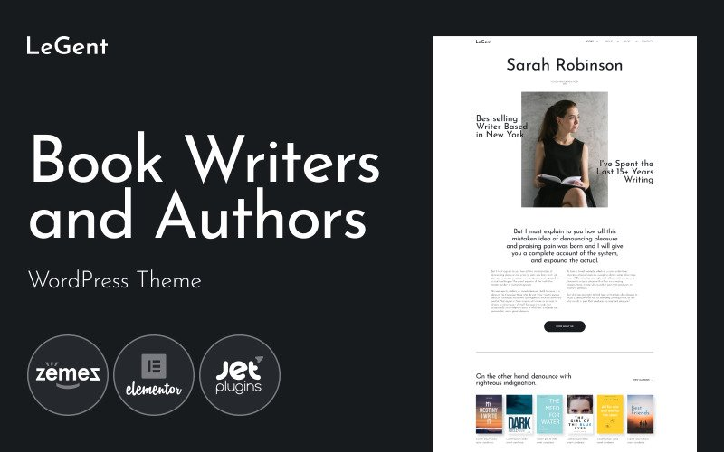 Legend - Responsive Book Writers and Authors WordPress Theme