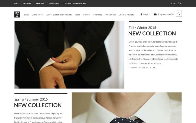 Mens Corporate Fashion Shop OpenCart Template