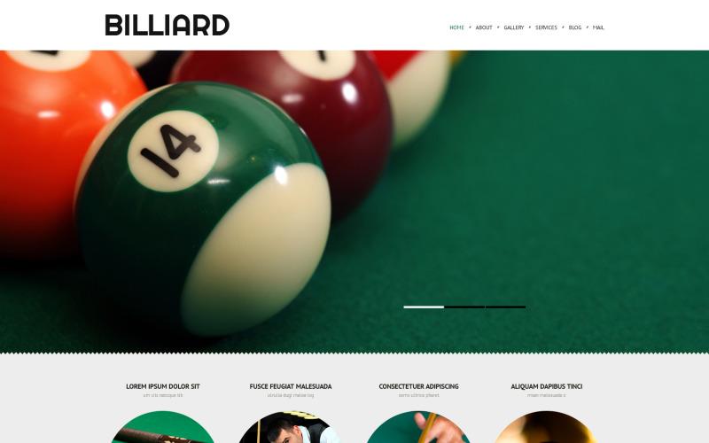 Responsives WordPress-Theme für Billard