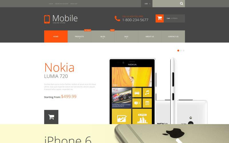 Тема для мобильных телефонов Shopify