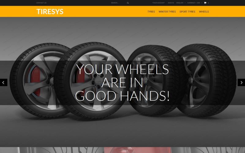 Tema PrestaShop Gratis para Tienda de ruedas y neumáticos