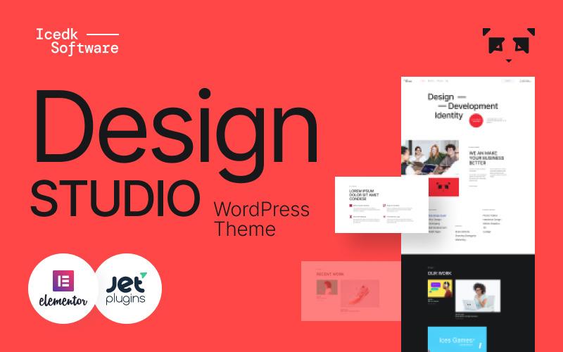 Icedk-Software - тема WordPress для студии дизайна
