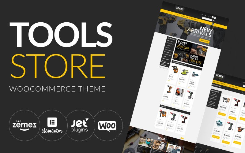 Инструменты Интернет-магазин Тема WooCommerce