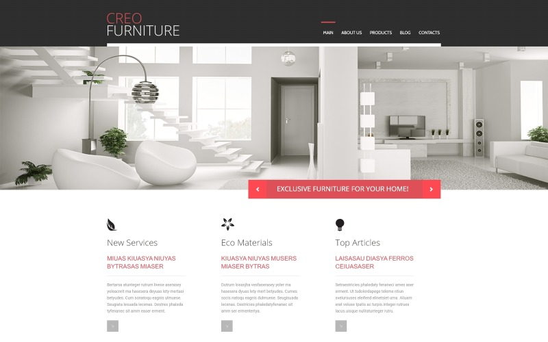 Möbel Responsive WordPress-Theme