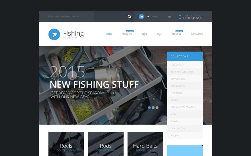 Рыболовные принадлежности Shopify Тема