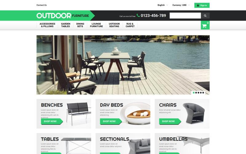 Tema de PrestaShop para muebles de exterior
