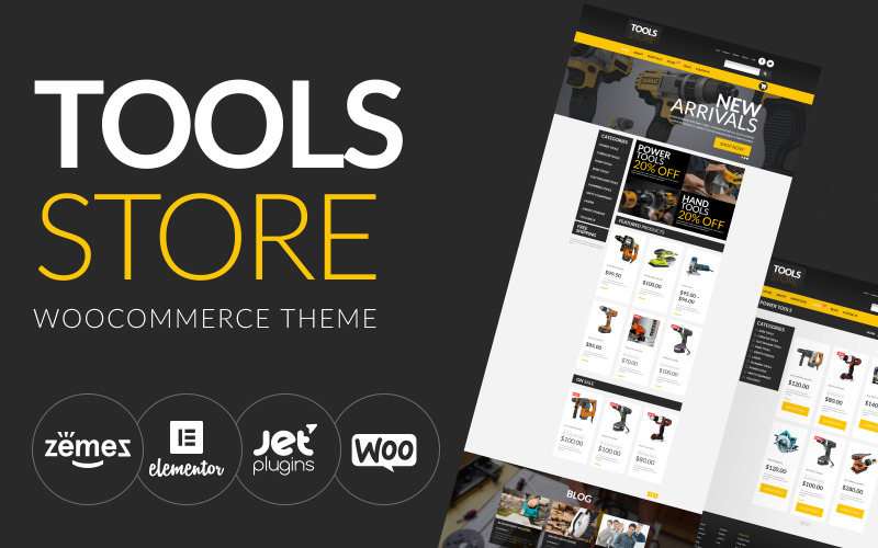 Tools Online Store WooCommerce-Thema