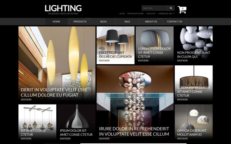Адаптивная тема Shopify для освещения и электричества