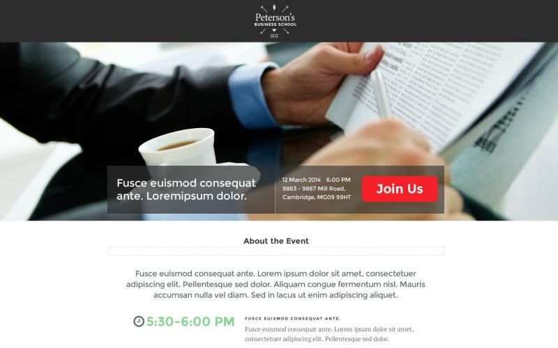 Бизнес и услуги - шаблон Unbounce