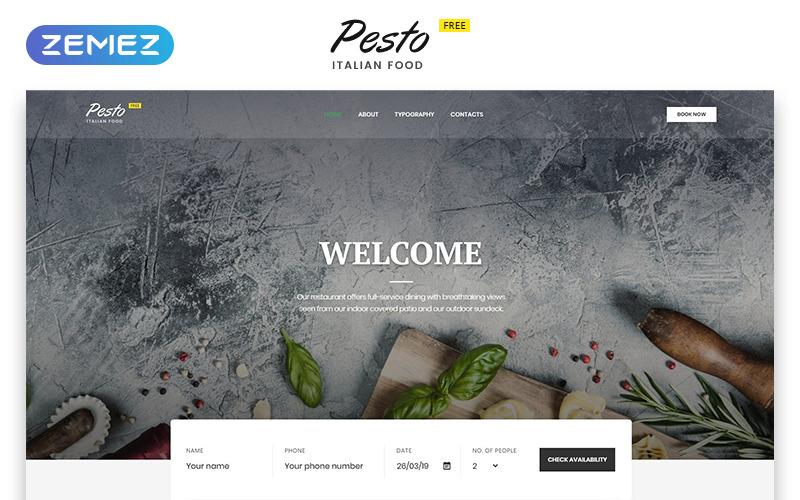 Cafe & Restaurant Modelli di siti Web gratuiti Modello di sito Web