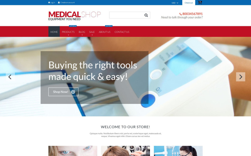 Medical Equipment Shopify Theme