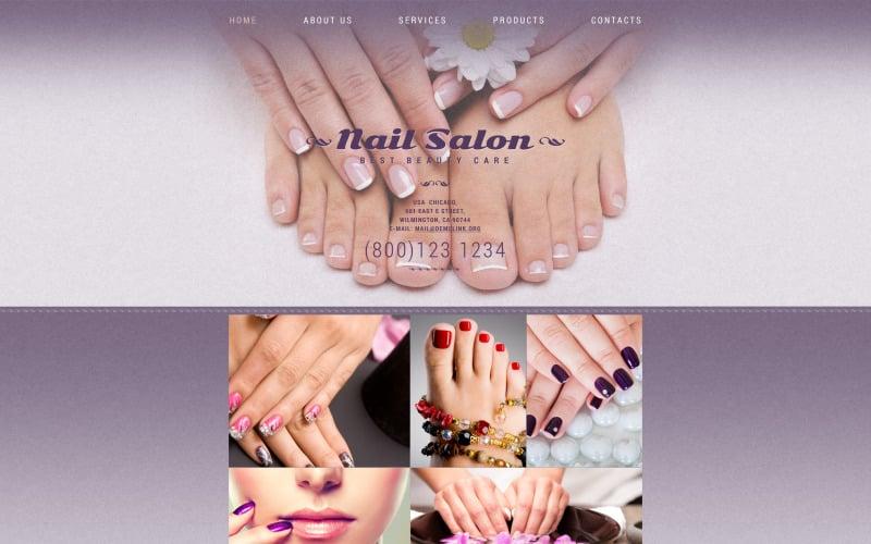 Nail Studio Website Template