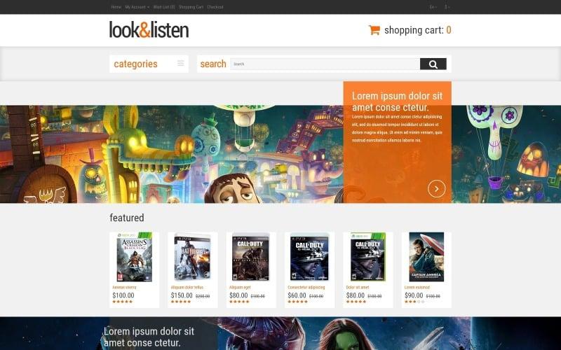 Premium Audio  Video OpenCart Template