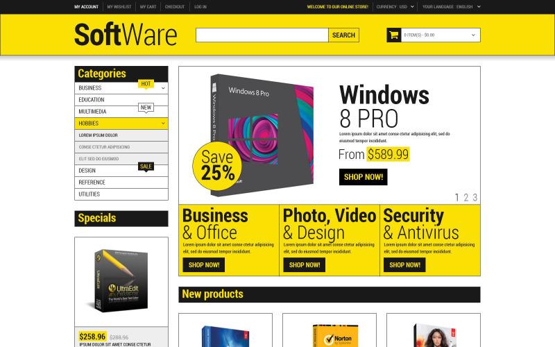 Software Store Magento Theme