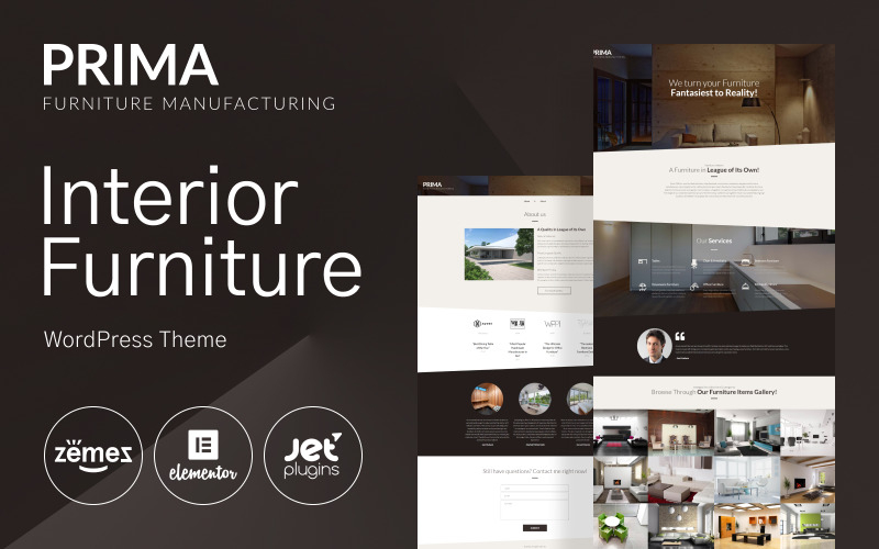 Tema WordPress de Móveis de Interior - Tema Prima WordPress