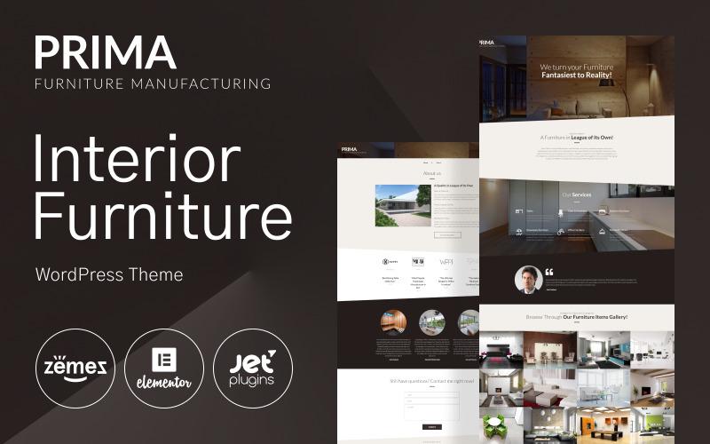 Тема WordPress для внутренней мебели - WordPress тема Prima