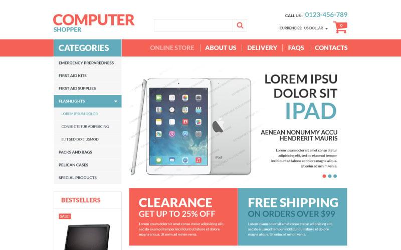 VirtueMart Computer Store Free Template VirtueMart Template