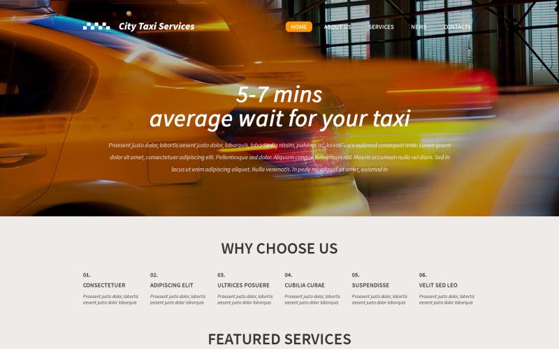 Адаптивный шаблон WordPress для такси WordPress тема