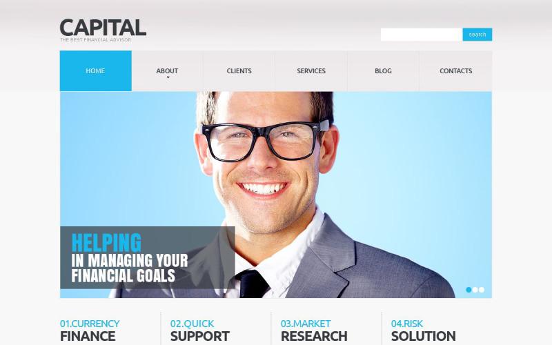 Financial Advisor Responsive Joomla Template