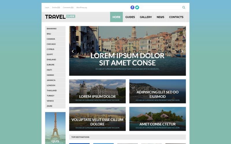 Przewodnik turystyczny Motyw WordPress