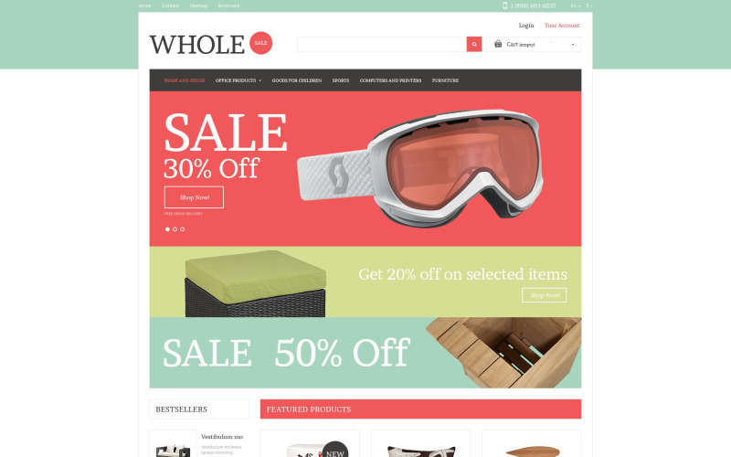 Wholesale Online PrestaShop Theme