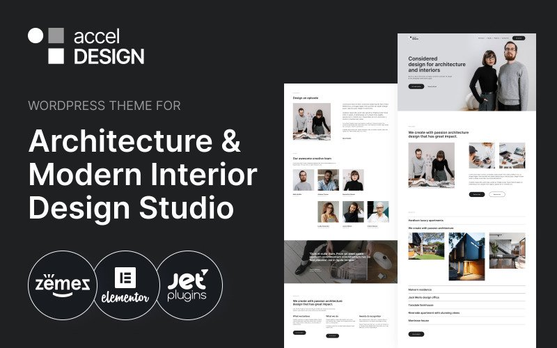 AccelDesign - WordPress Theme for Architecture & Modern Interior Design Studio