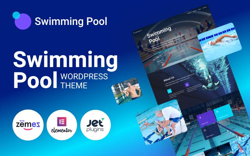 Бассейн - современная тема WordPress для плавательного бассейна