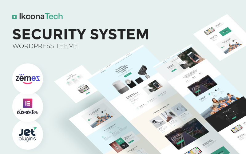 Ikcon Tech - Security System WordPress Theme