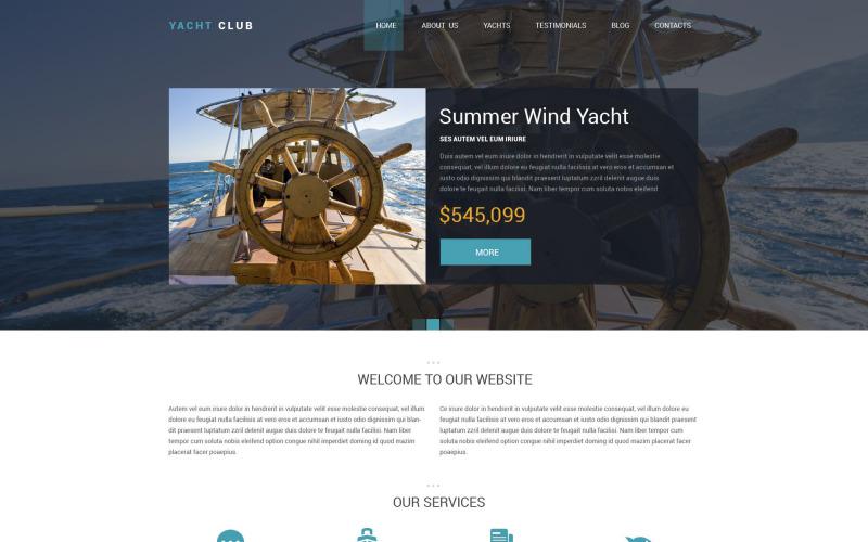 Modèle Drupal de Yacht Club