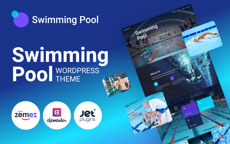 Plavecký bazén - WordPress motiv na moderní plavecký bazén