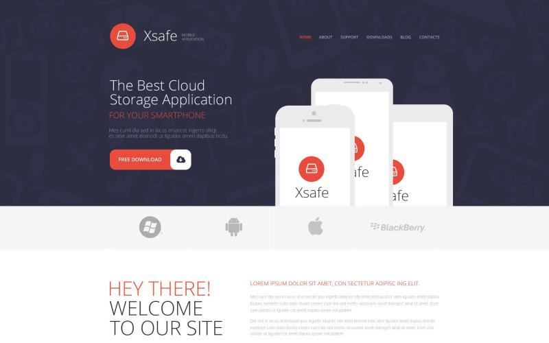Mobile App Store WordPress-tema