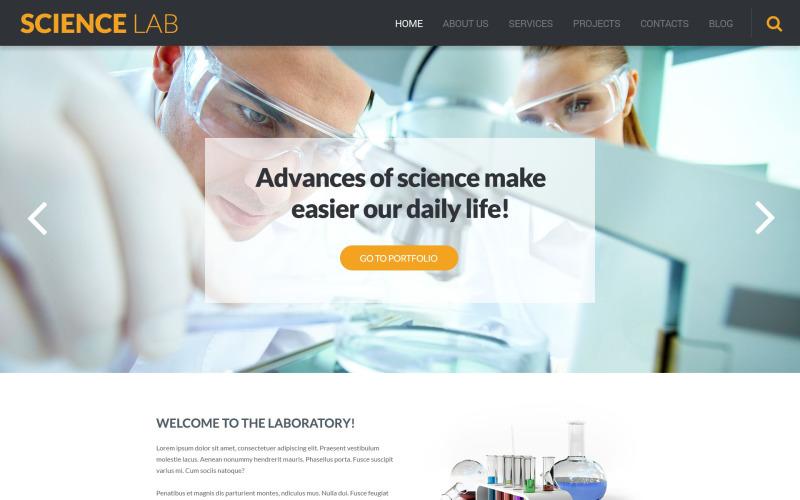 Science Lab WordPress Theme