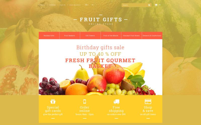 Tema PrestaShop di cesto regalo di frutta fresca