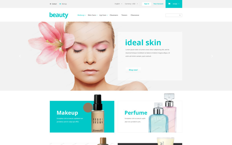 Tema PrestaShop Gratis para Tienda de productos de belleza