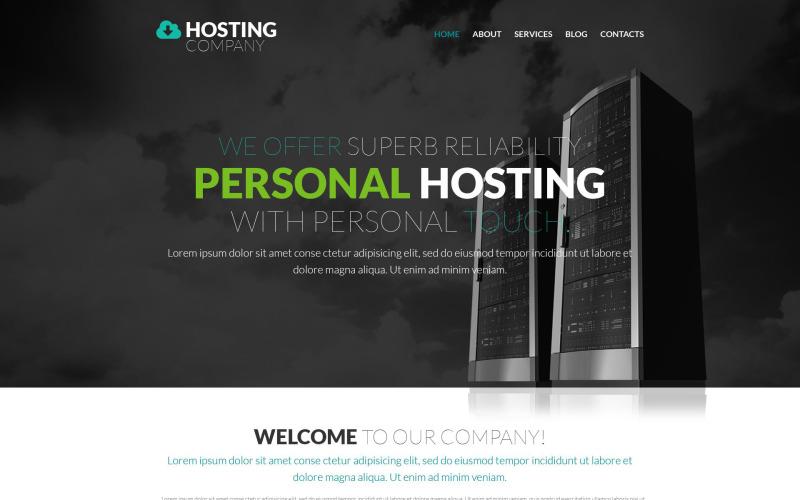 Тема WordPress провайдера хостингу