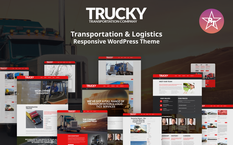 Trucky - адаптивная тема WordPress для транспорта и логистики