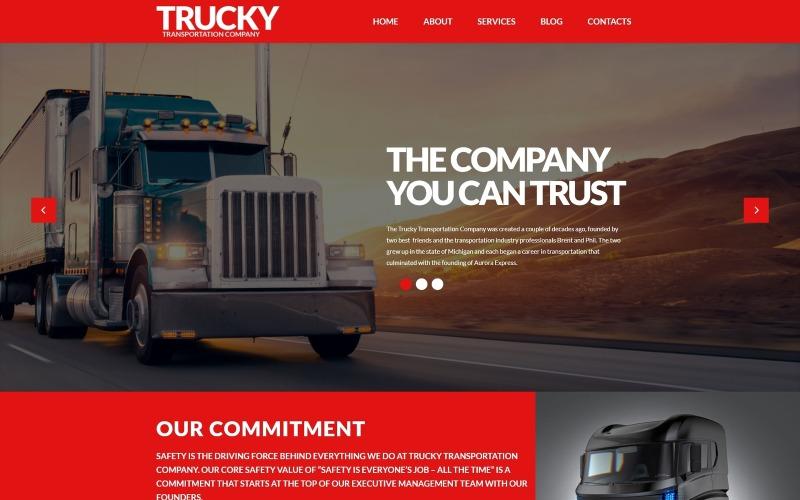 Trucky - Szállítás és logisztika érzékeny WordPress téma