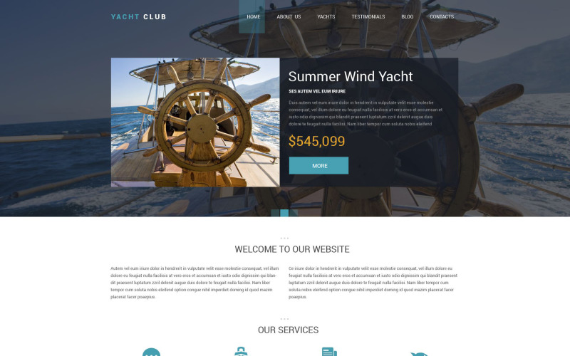 Yacht Club Drupal Template
