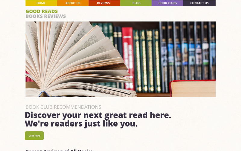 Boekenrecensies WordPress Theme