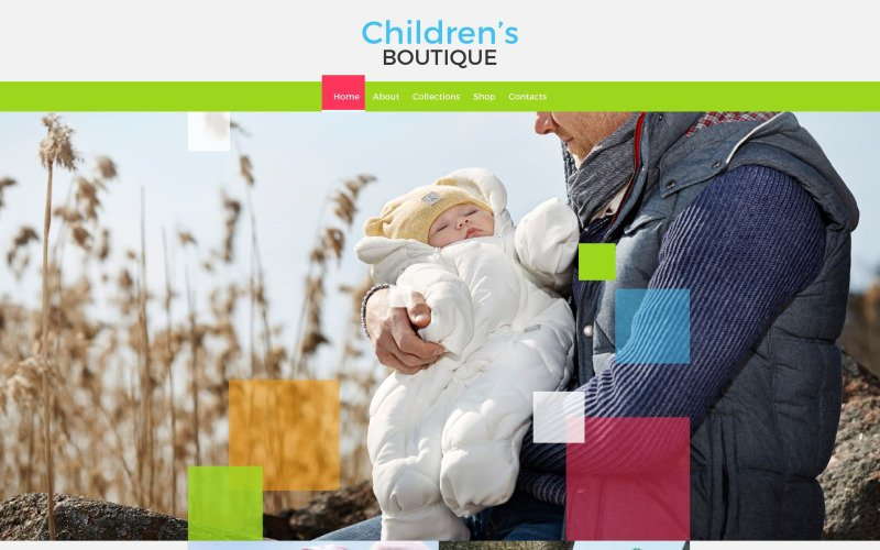 Childrens Boutique Website Template