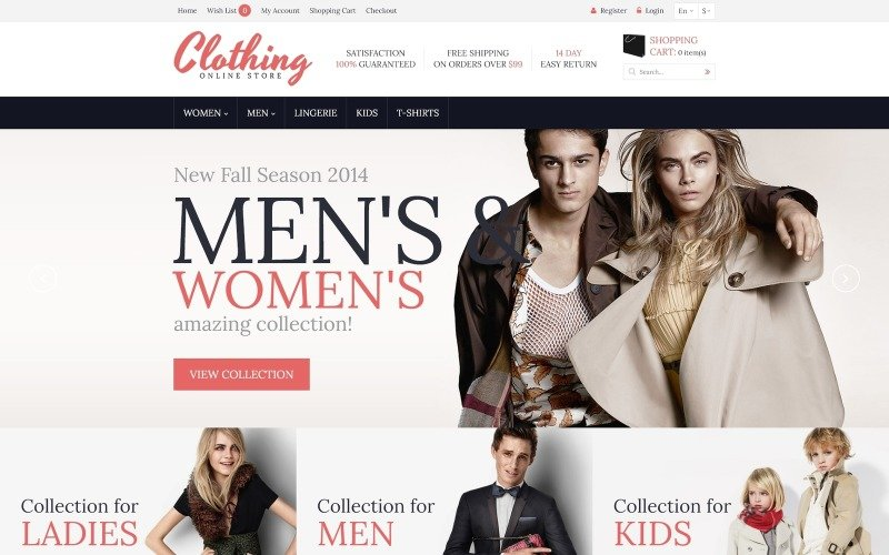 Clothing for Everyone OpenCart Template