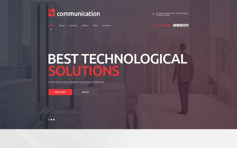 Communications Company WordPress Theme
