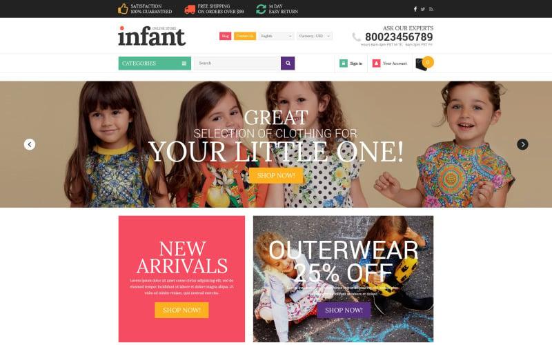 Infant Clothes PrestaShop Theme