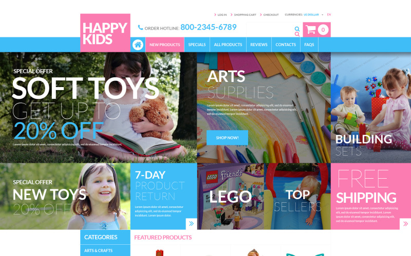 Magasin de jouets Modèle ZenCart gratuit