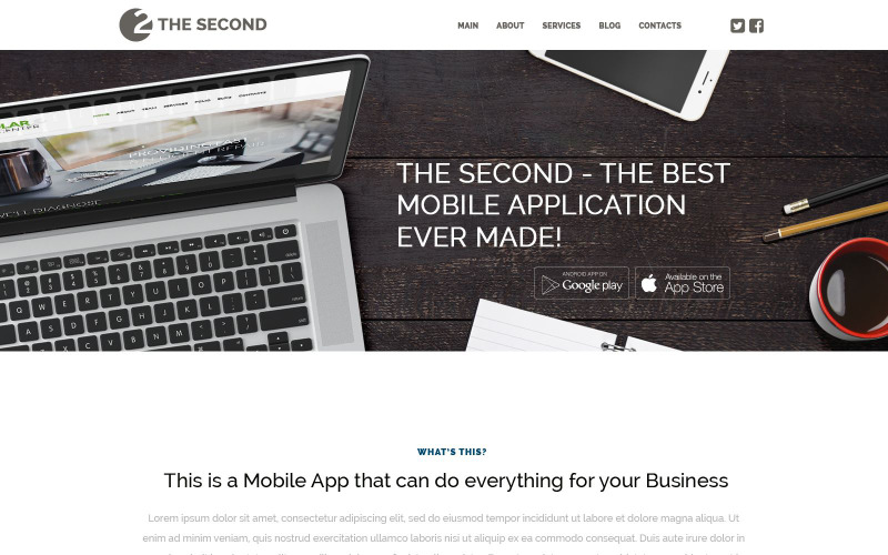 Mobile Applications WordPress Theme