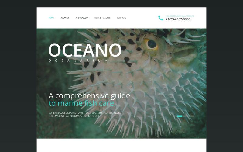Oceanarium Website Template