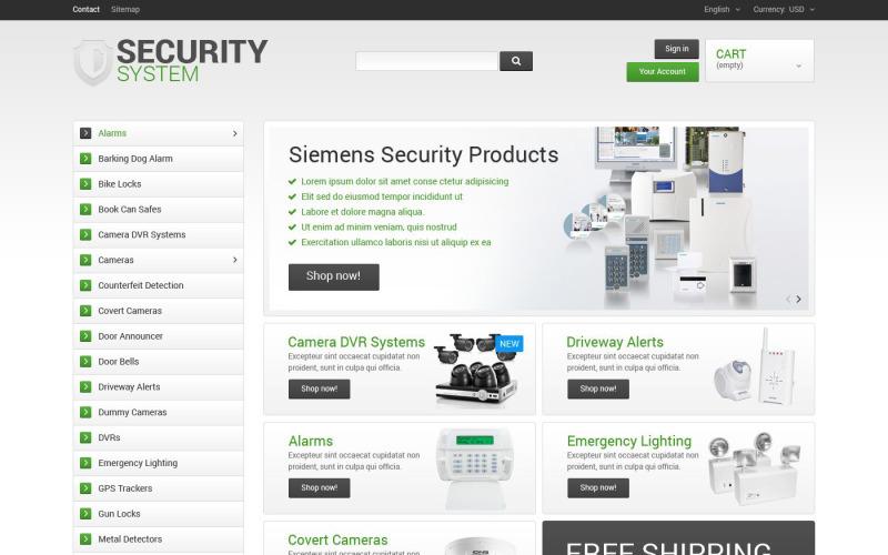 Tema do Sistema de Segurança PrestaShop