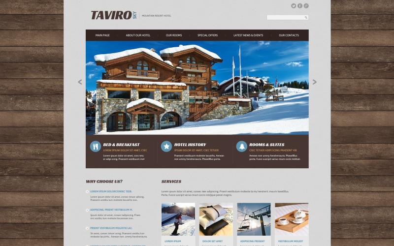 Taviro Sky Website Template