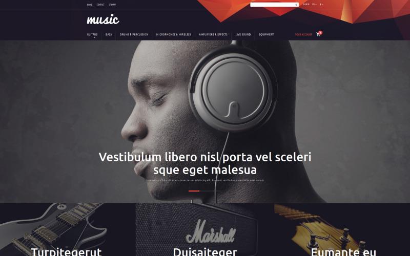 Тема музичного магазину PrestaShop